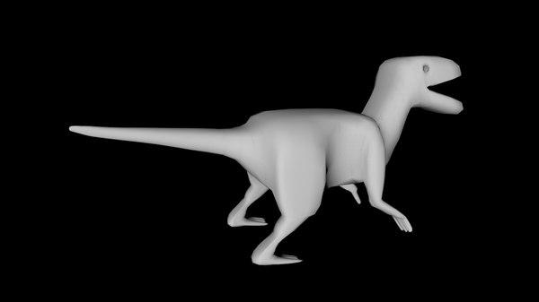 3D dinosaur rigging model