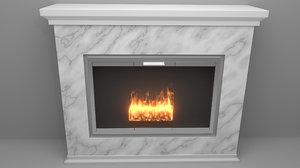 modern marble fireplace model
