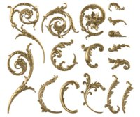 Kolekcja liści akantu