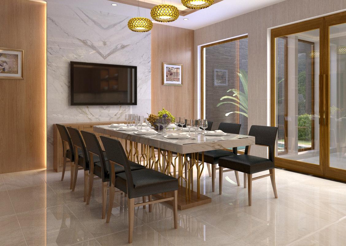 3D diningroom