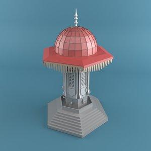 3D model drinking water