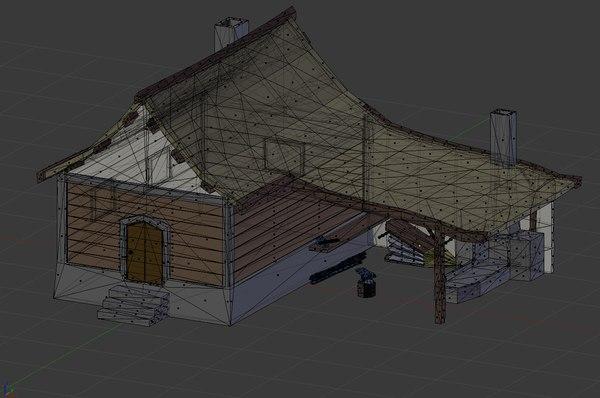 3D model blacksmith shop