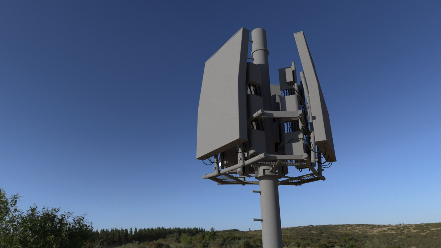 cell tower 2 3D model