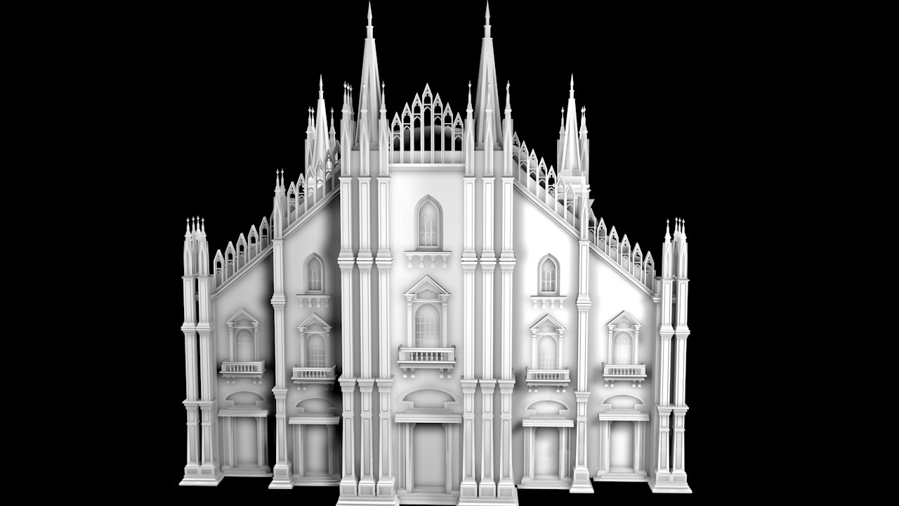 3D church cathedral
