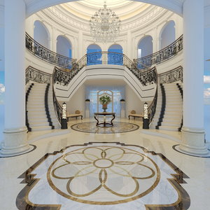 3D model classical entrance