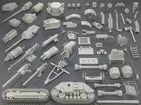 tank parts - 60 3D model
