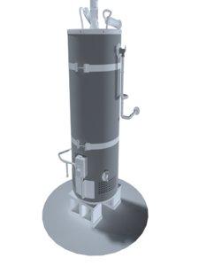 hot water heater 3D