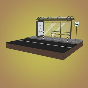 sketch busstop 3D