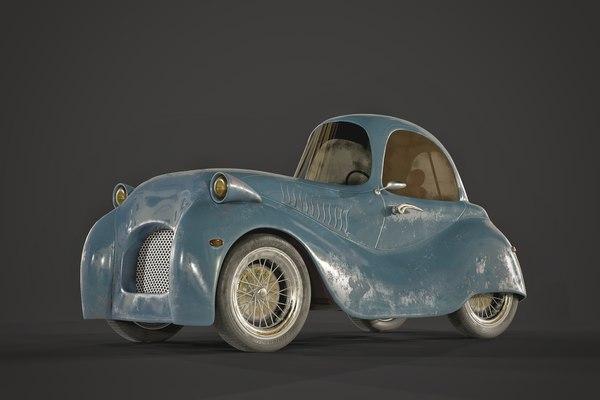 cartoon stylized car model