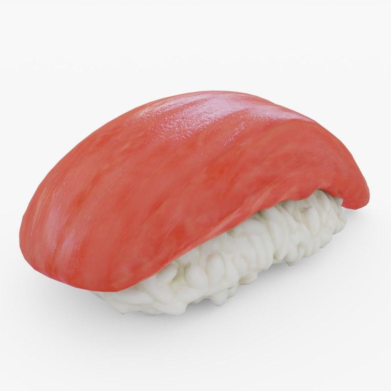 3D salmon sushi model