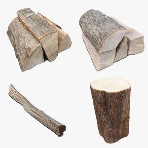 scan wood log 3D model