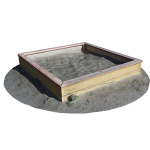 3D ultra realistic children sandbox model
