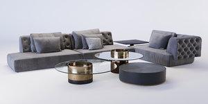 fiona sofa 3D model