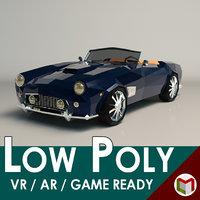 Low-Poly Cartoon Roadster