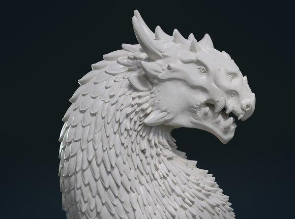 dragon bust 3D model