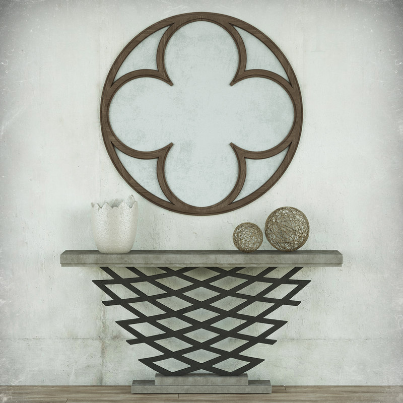 accordion console table mirror 3D model