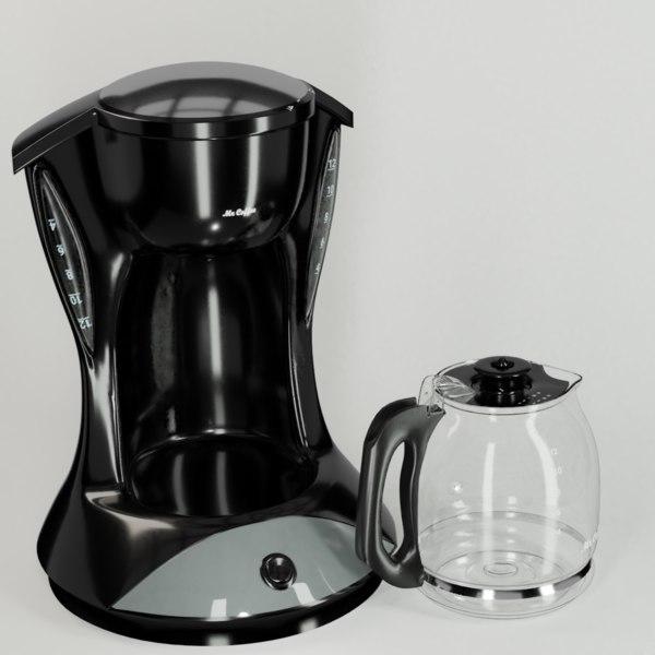 3D coffee maker kitchen appliance