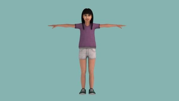 3D indian teenage girl