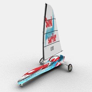 3D sand yacht