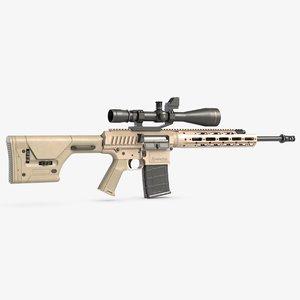 3D remington semi automatic sniper model