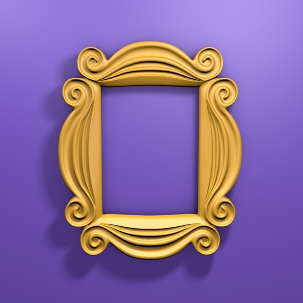 friends peephole frame 3D