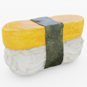 sushi tamago 3D model