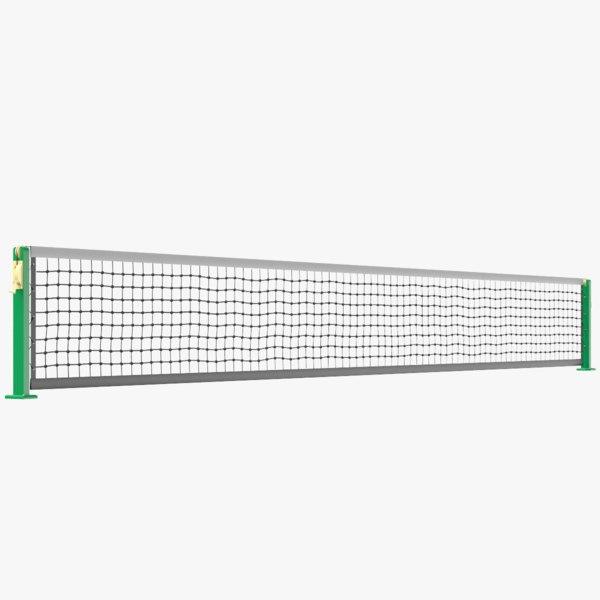 3D racket tennis net