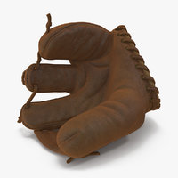 vintage baseball glove generic 3D model