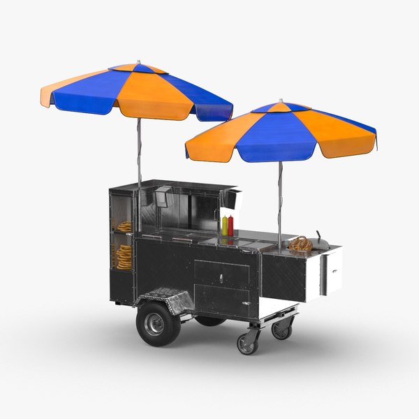 3D new-york-hot-dog-and-pretzle-stand