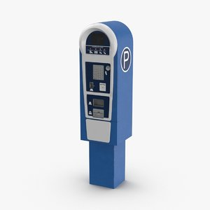 3D model pay-for-parking-station