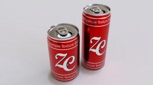 3D 33cl soda cans model