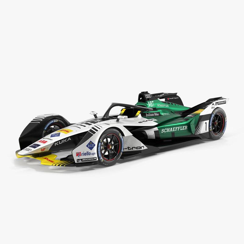 3D audi formula e car model