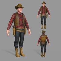 3D model unity cowboy
