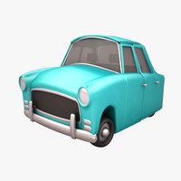 3D antique cartoon car model