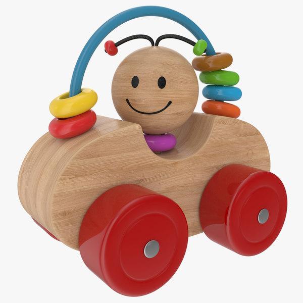 3D wooden car model