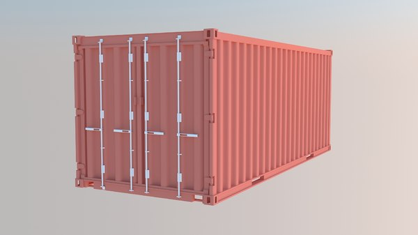 3D 20ft container model