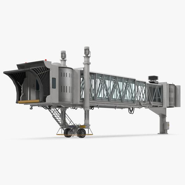 3D model airport jetway bridge rigged