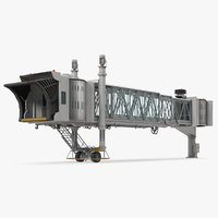 3D model airport jetway bridge rigged