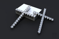 jewelry cross stones 3D model