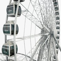 Sky Wheel with Boarding Platform Maya