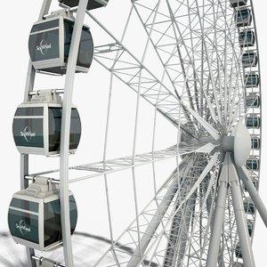sky ferris wheel boarding 3D model