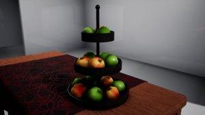 3D model furniture october apples stand