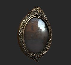 antique mirror 3D