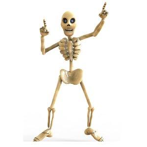 skeleton toon 3D model