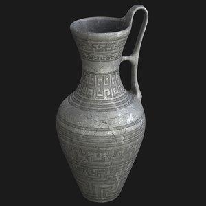 3D old jug model