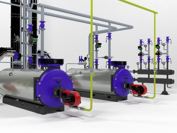 boiler buderus sk655-250 3D model