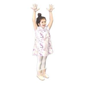 girl happy photogrammetry 3D