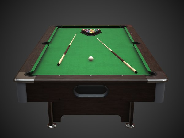 3D model american pool table cues