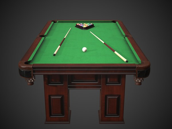 3D model american britton heritage pool table