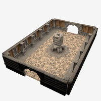 castle room 3D model